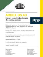 ARDEX DS 40 Datasheet