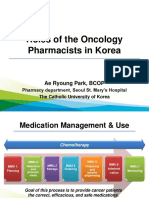 Roles of Oncology Pharmacists in Korea 20140928