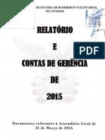 Relatório e Contas de Gerência de 2015