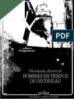 Hannah Arendt. Hombres en Tiempos de Oscuridad