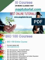 BIO 100 Academic Success /Snaptutorial