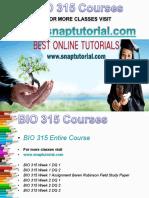 BIO 315 Academic Success/Snaptutorial