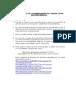 Coordinaciónpreviayemisióndevideoconferencia