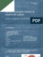 ANF- Kel 1 - Keseimbangan Cairan & Elektrolit Tubuh