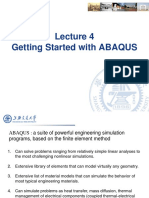 Lecture 4 - Getting Started With ABAQUS