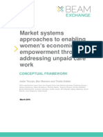 Market systems approaches to enabling women's economic empowerment through addressing unpaid care work