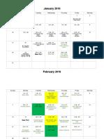 spring 2016 student calendar