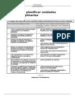 Planificador Interdiciplinariedad clarificado
