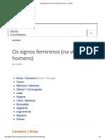 Os Signos Femininos (Na Visão Dos Homens)