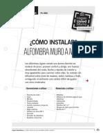 Ps-In02 Instalar Alfombra Muro