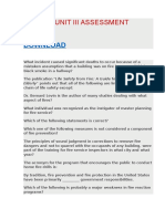 Fir 3303 Unit III Assessment