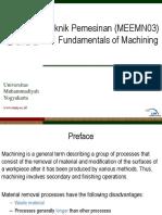 1 Fundamentals of Machining