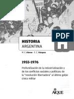 M. E. Alonso - E. C. Vázquez, Historia Argentina 1955-1976. Ed. Aique