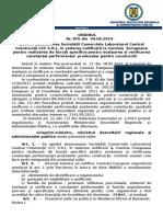 108.Ordin Nr.876-04.06.2014 Pentru Desemnarea Societatii Comerciale Laboratorul Central Constructii CCF S.R.L. in Vederea Notificarii La Comisia Europeana