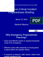 Emergency/Security Planning Webinar