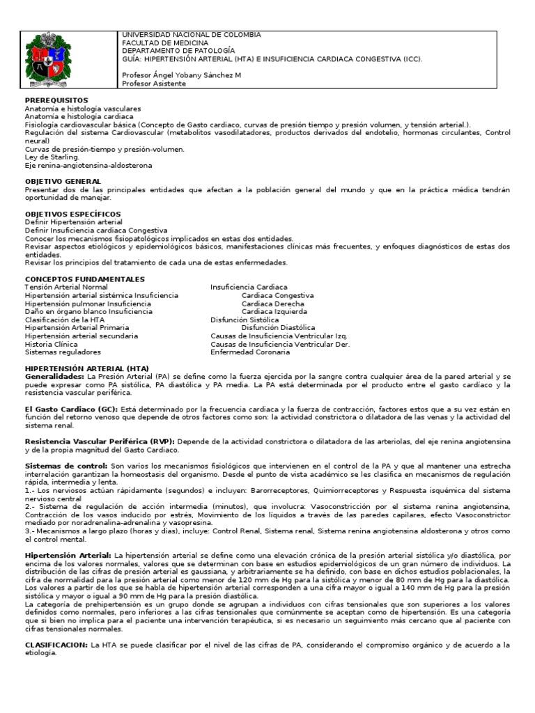 Guia de Hi Per Tension Arterial e Icc Dr. Yobany