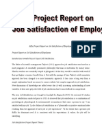 MBA Project Resdffdport on Job Satisfaction of Employees