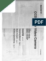 Sony dxc 151A-151AP Manual