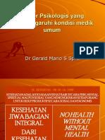 Faktor Psikologis Yang Mempengaruhi Kondisi Medik Umum Bhn Kul UKI 0710