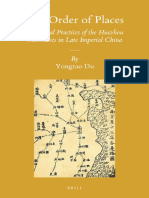 The Order of Places:Translocal Practices of the Huizhou Merchants in Late Imperial China