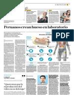 Peruanos Crean Hueso en Laboratorio