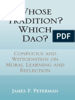 Whose Tradition, Which DAO:Confucius and Wittgenstein on Moral Learning and Reflection