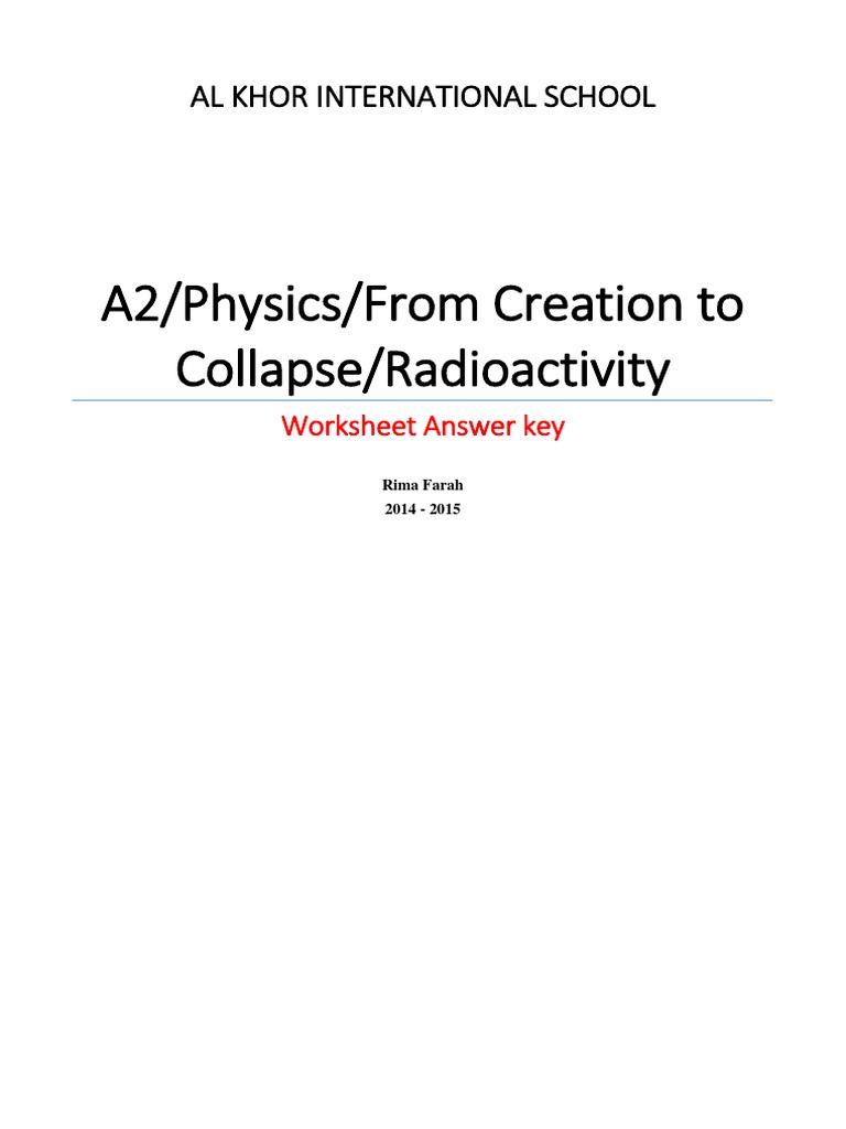 Uncategorized Radioactivity Worksheet radioactivity worksheet a2 ms radioactive decay atomic nucleus