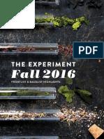 The Experiment Fall 2016 Catalog