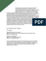 Programa Introduccion a La Biologia de Sistemas