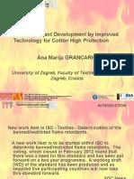 Fire Retardant Development by Improved Technology for Cotton High Protection  - Ana Marija Grancaric - Barcelona 1-3 Feb 2016.ppt