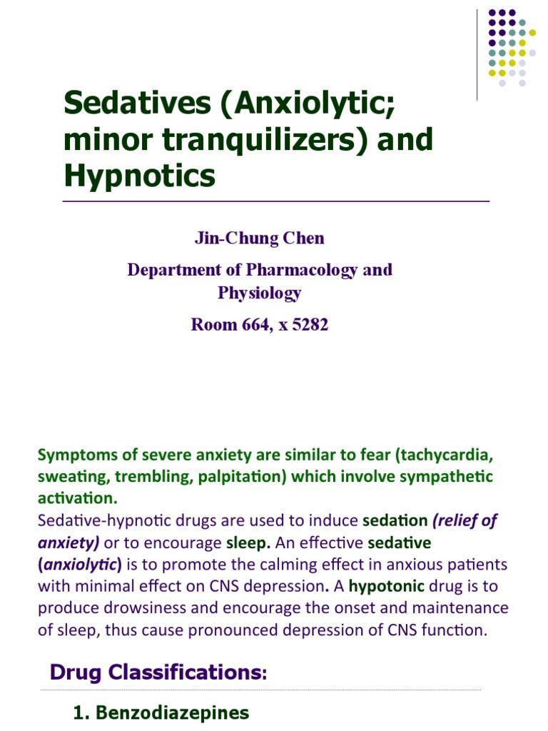 Sedatives (Anxiolytic