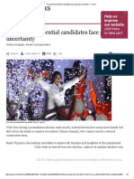 Peruvian Presidential Candidates Face Growing Uncertainty - FT