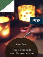 Anton Pann - Poezii Deosebite Sau Cantece de Lume