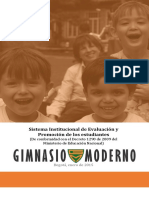 Sistema Institucional de Evaluación Gimnacio Moderno