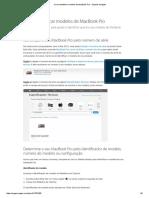 Como Identificar Modelos de MacBook Pro - Suporte Da Apple