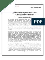 Declaración de Independencia Cartagena de Indias 1811