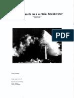 Wave impact on vertical breakwater