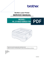 Brother HLl-2170w Service Manual