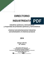 Directorio Industridata Industrias Quimicas y Mayoristas