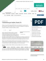 Comisiones Por Tarjeta, Hasta 5% - Edicion Impresa - ABC Color