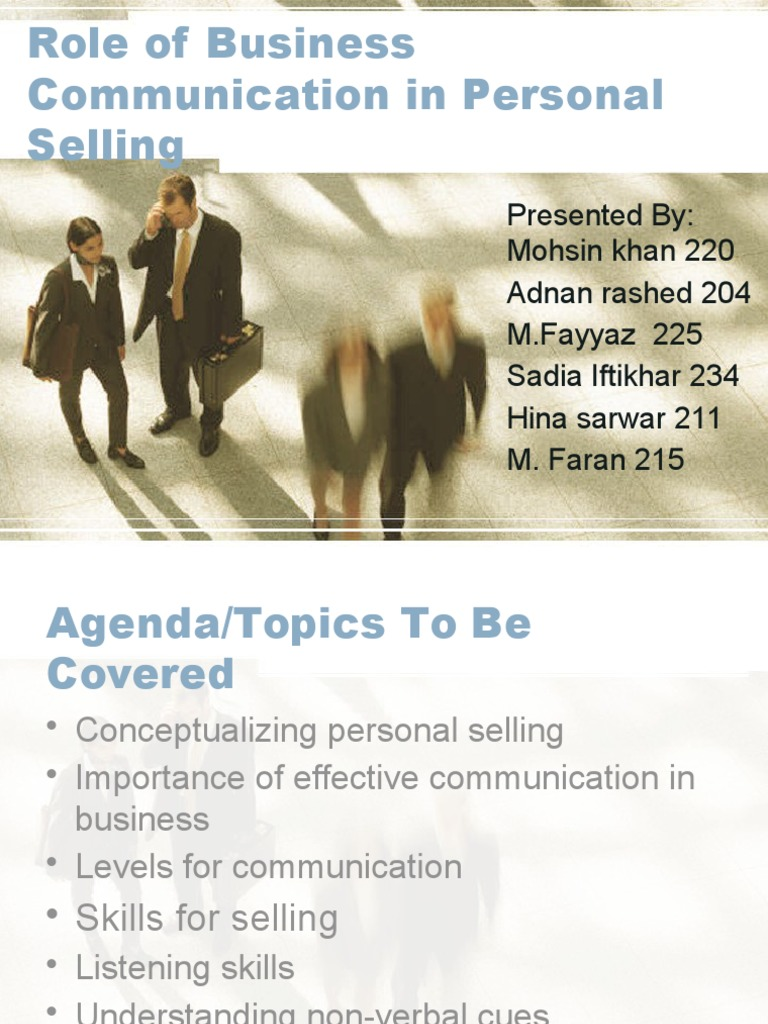 role of business communication in an