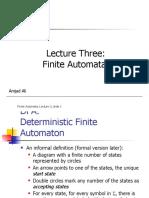Lec 3 (Finite Automata)