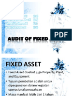 Audit of Fixed Asset