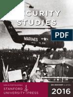 2016 Security Studies catalog