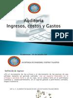 Auditoria de Ingresos, Costos y Gastos
