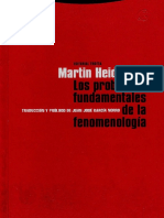 259666943 M HEIDEGGER Los Problemas Fundamentales de La Fenomenologia