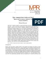 Parncutt (2007) - Can Researchers Help Artists