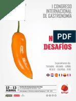 Programa del Congreso Internacional de Gastronomía