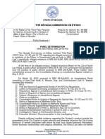 Nevada Commission on Ethics Decision