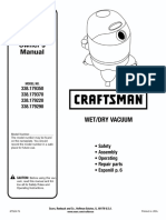 Craftsman Wet/Dry Vacuum Owner's Manual